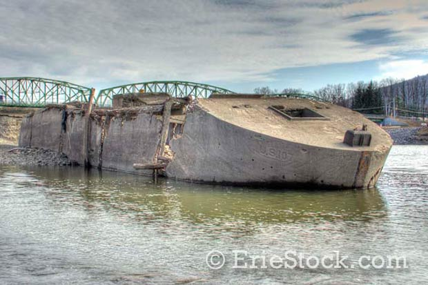 Concrete Barges on the Erie Canal – A Wartime Expedience