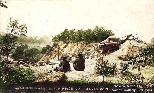 delta work on dam